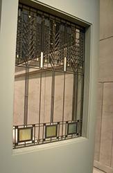 Frank Lloyd Wright's Tree of Life art glass window in Darwin Martin House
