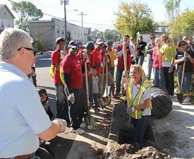 Asbury Park - volunteer planting event
