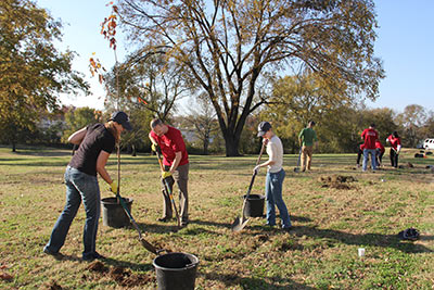 East Nashville volunteer tree planting