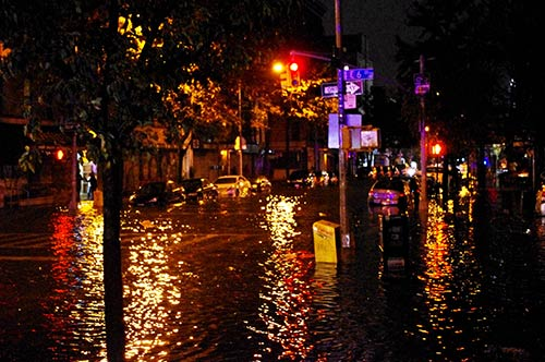 Hurricane Sandy flooding in New York City