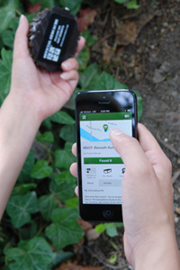 A mobile geocaching app.