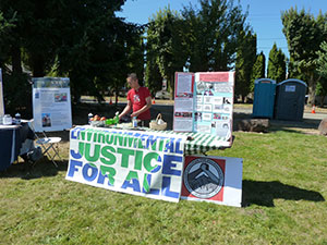 Environmental Justice booth at the Duwamish River Festival.