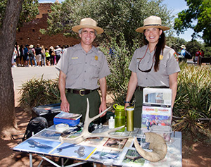 Uniformed National Park Service rangers