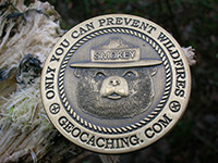 Smokey Bear geocoin.