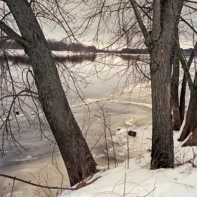 The Wisconsin River near Aldo Leopold's shack in winter.