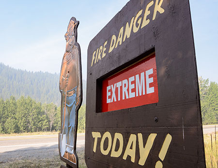 Smokey warns of extreme fire danger near Hailey, Idaho