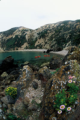 Potato Harbor on Santa Cruz Island offers relief from the rolling waters of the Potato Patch