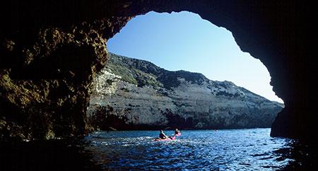 Kayaking Channel Islands National Park.