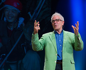 Dr. John Gathright giving a TED Talk in Kyoto, Japan