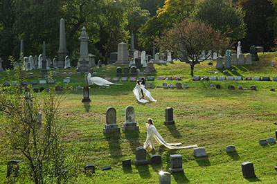"Performance of ""Angels and Accordions"" at Green-Wood Cemetery in Brooklyn"