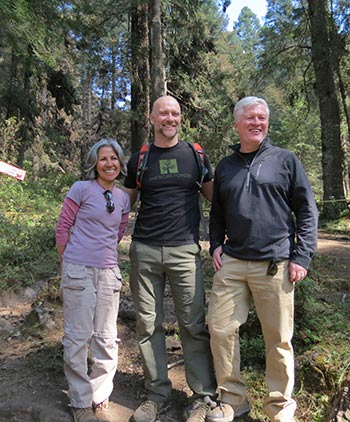 Rebeca Quiñonez-Piñón of La Cruz Habitat Protection Project with Matthew Boyer and Scott Steen of American Forests