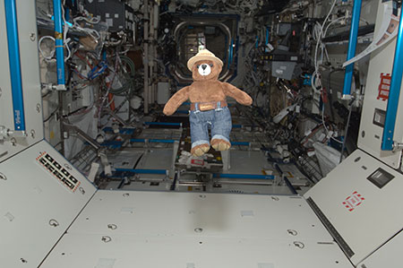 Smokey Bear aboard the International Space Station in 2012
