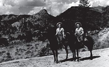 Trail Riders in Rocky Mountain National Park, 1938