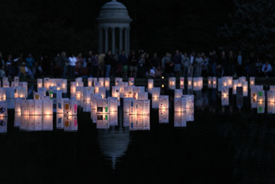 Lantern lighting festival at Spring Grove Cemetery and Arboretum