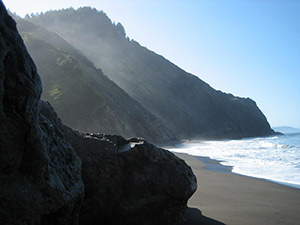 The rugged terrain of the Lost Coast