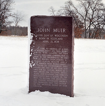 Granite memorial to John Muir