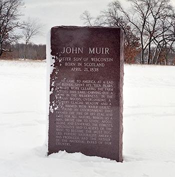 Granite memorial to John Muir