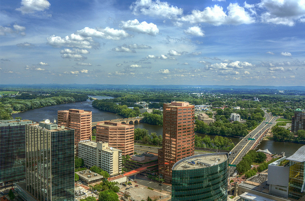 Hartford downtown view
