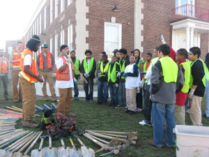Community members join Casey Trees for tree plantings at Noyes Elemetary School in 2010 and on Massachussetts Avenue in 2014.