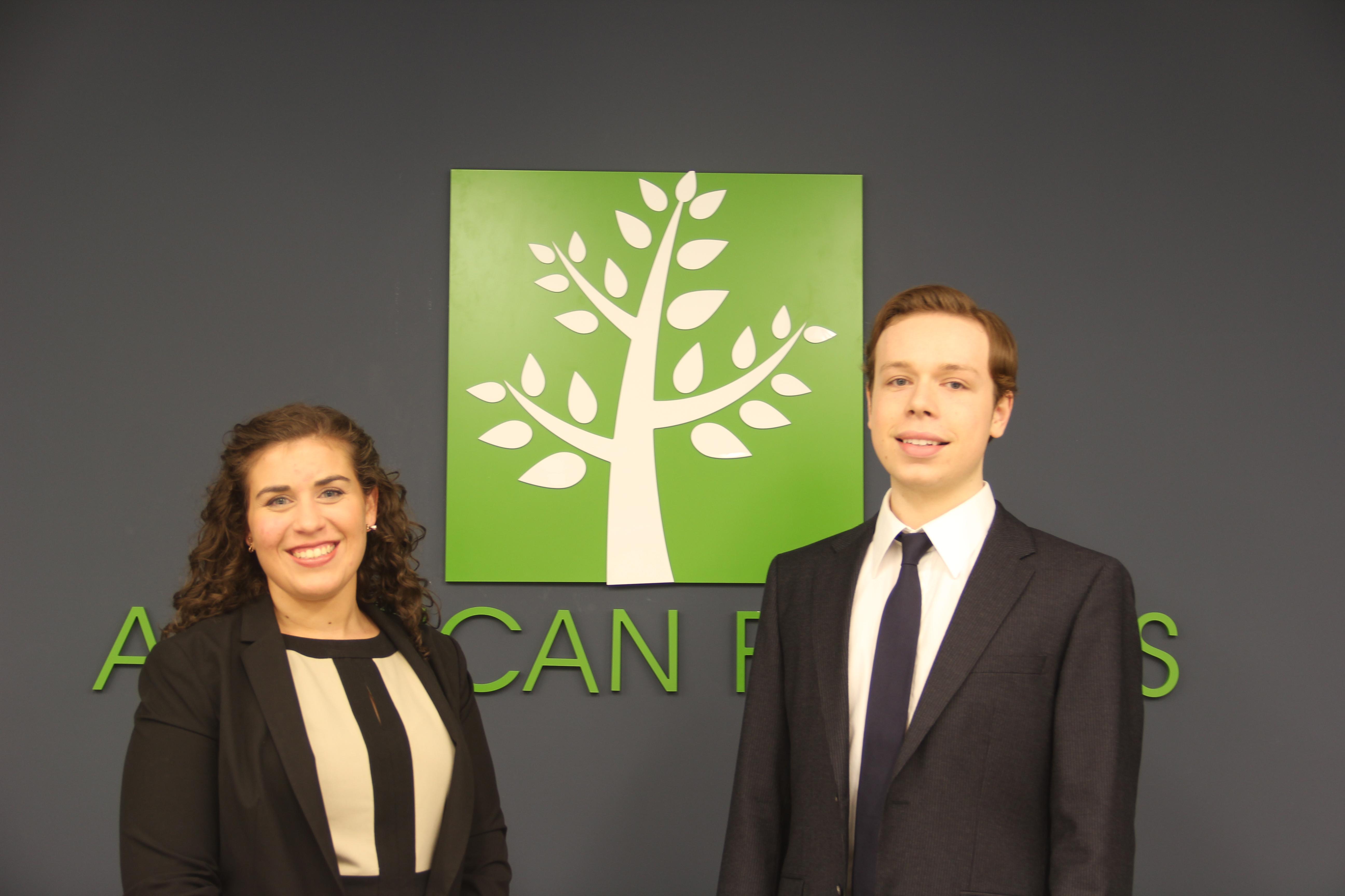 American Forests Policy Interns Sarah Davidson and Conrad Kabbaz