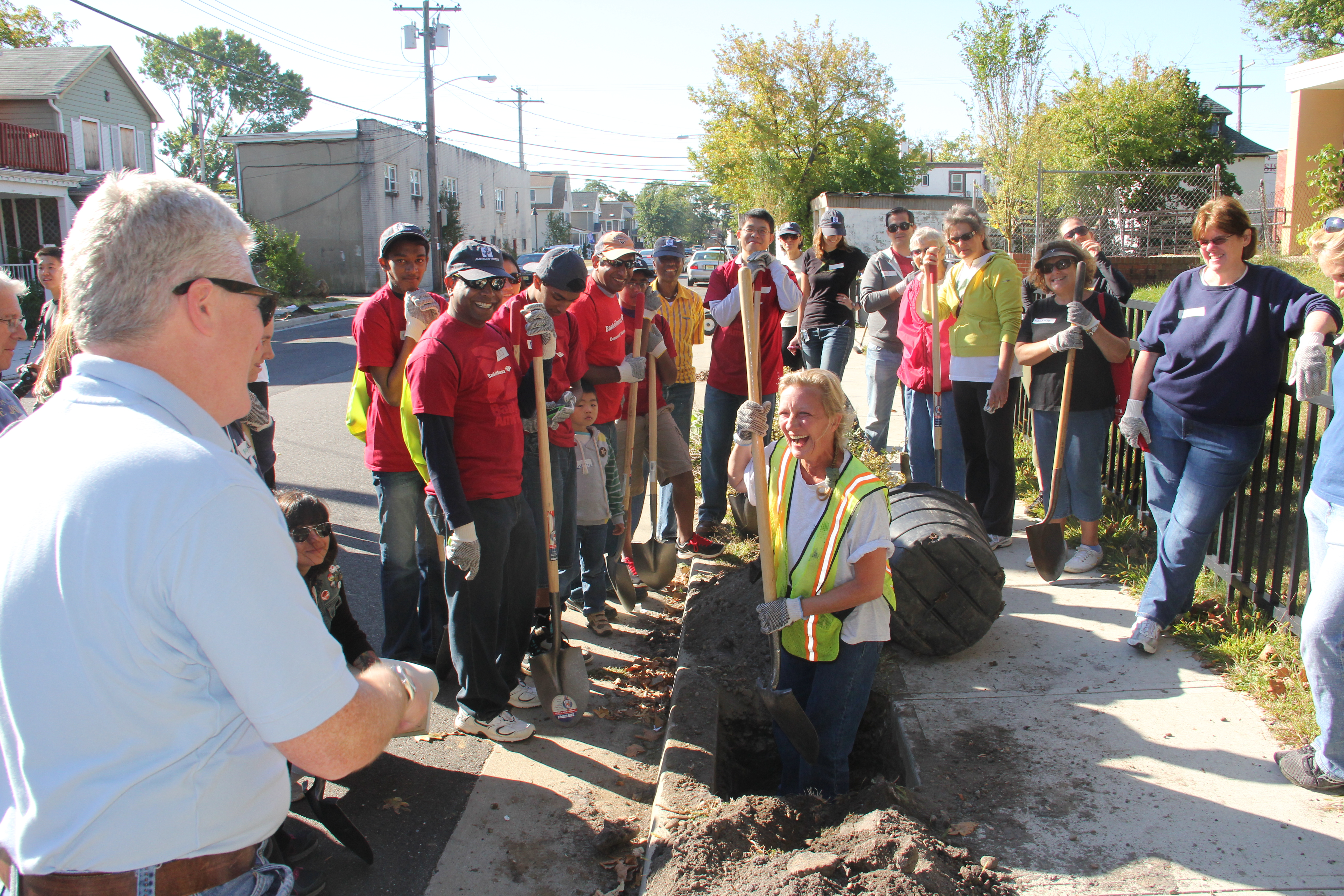 The first Community ReLeaf planting event took place is Asbury Park, N.J. with sponsor Bank of America Foundation