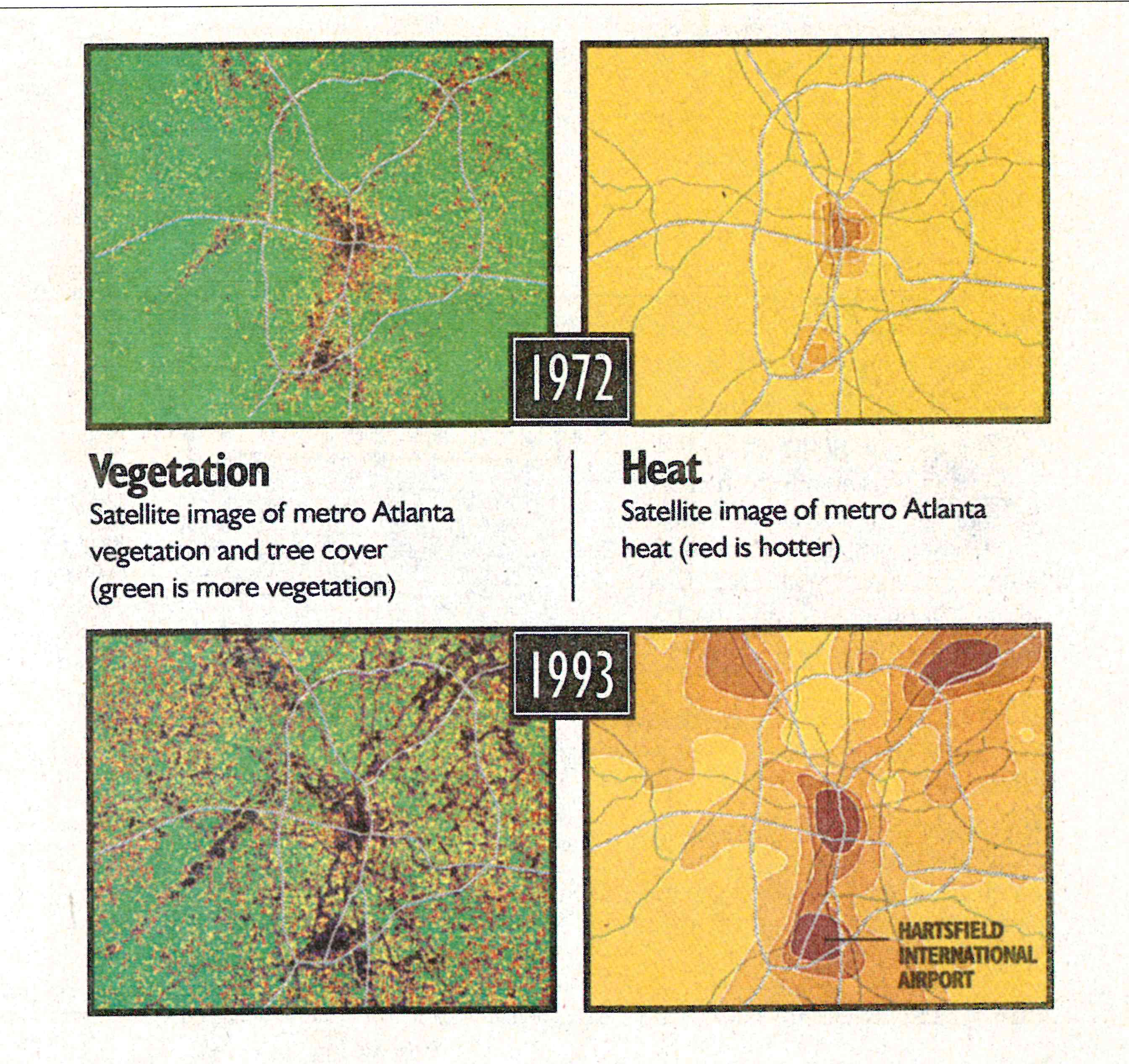 Atlanta tree cover satellite images