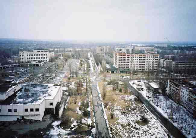 Downtown Pripyat in 2012.