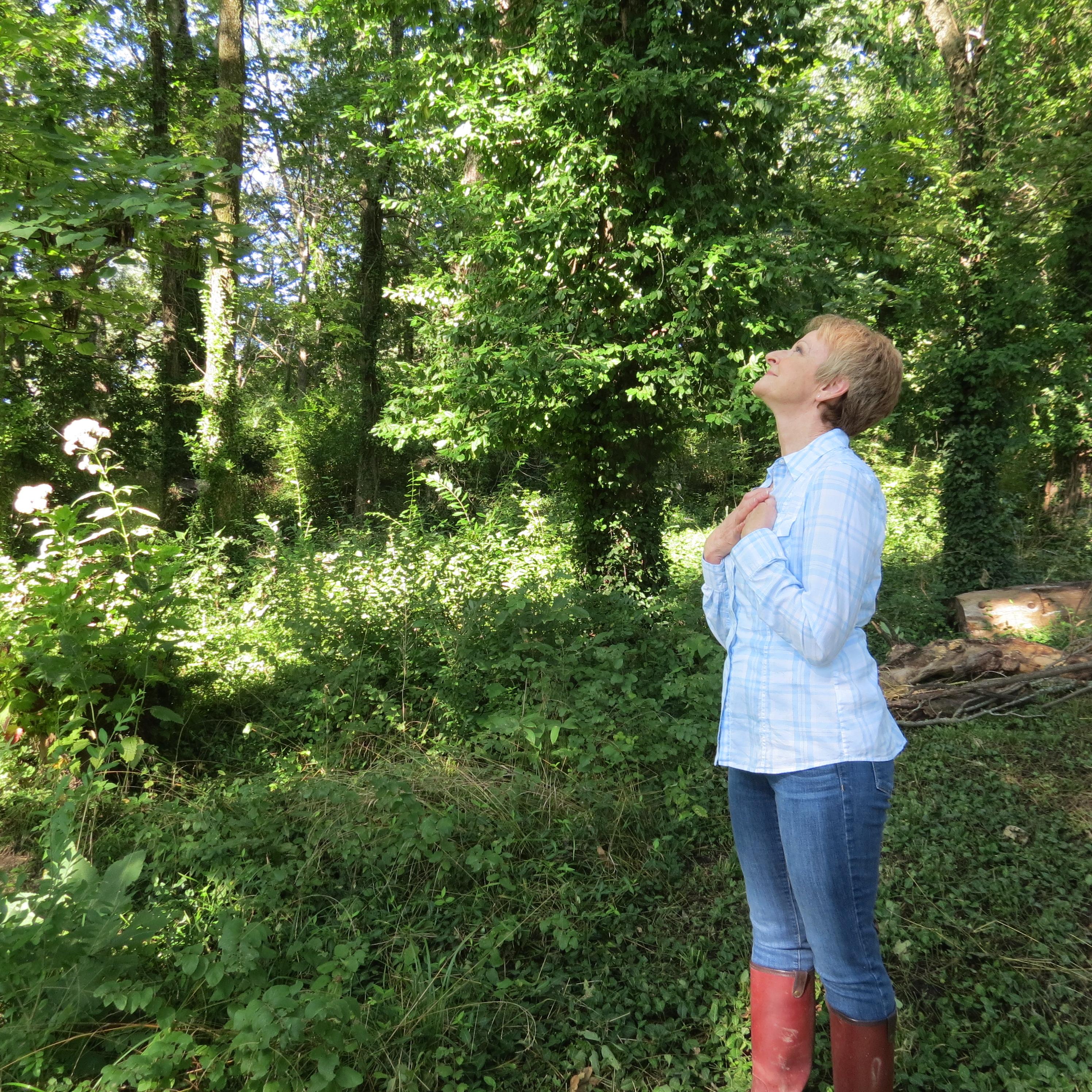Cindy Bartel visiting MaKenna's grave