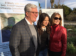 Scott Steen, Katie Lowes and Kathy Connell