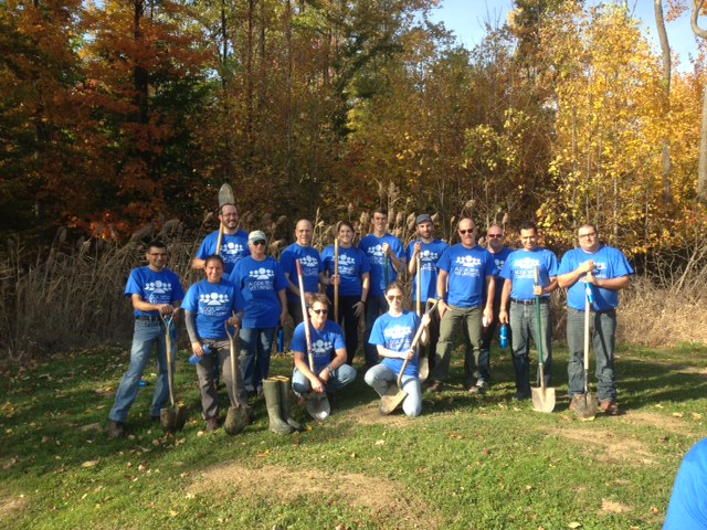 Alcoa Foundation volunteers