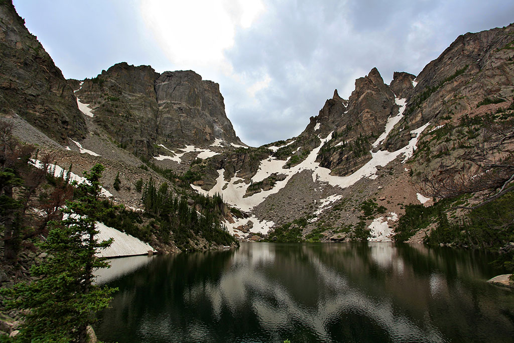 Emerald Lake in Rocky Mountains.