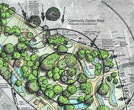 Austin food forest rendering