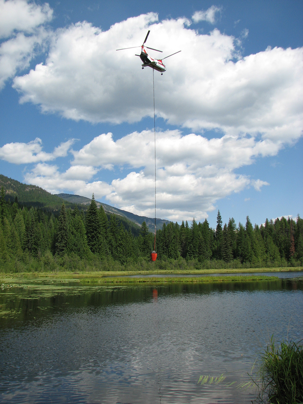Aerial firefighting on the Colville National Forest