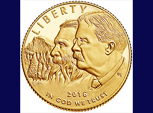 2016 National Park Service 100th Anniversary Commemorative Gold Coin