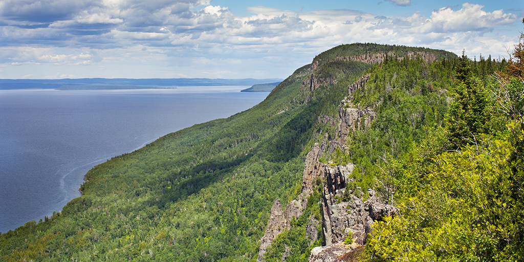 Top of the Giant trail in Sleeping Giant Provincial Park.