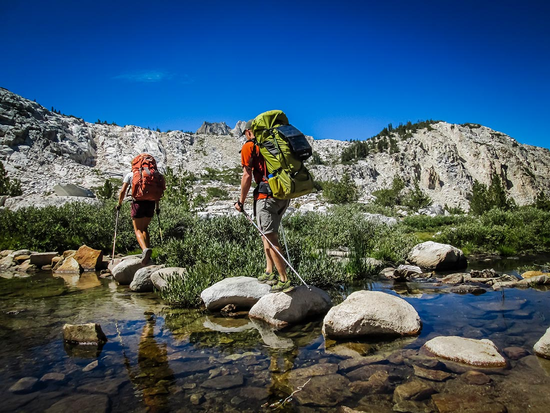 Approaching the first pass of the day somewhere around mile 55 on the JMT