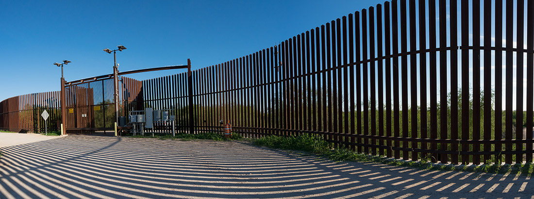 The border wall on the Lower Rio Grande Valley refuge