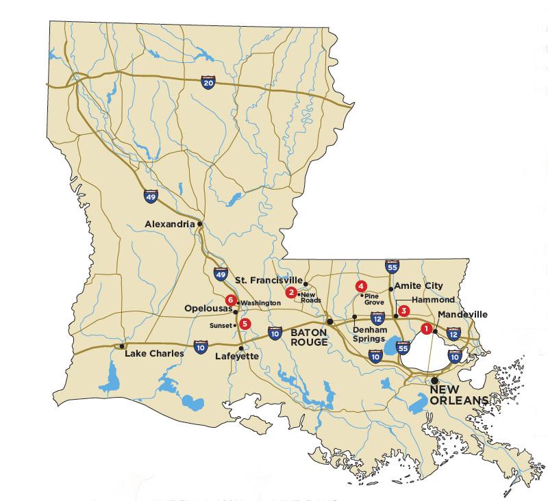 Map of oaks