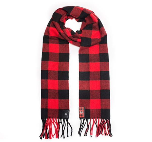 lumber union red plaid scarf