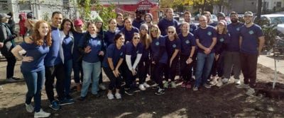 Employees from Epsilon, an Alliance Data company based in Wakefield, Mass., joined American Forests, Speak for the Trees and members of Dorchester community nonprofits to help plant the newest H.E.R.O. Hope Garden.