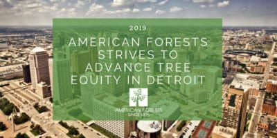 AMERICAN FORESTS STRIVES TO ADVANCE TREE EQUITY IN DETROIT