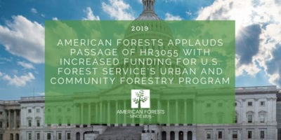 American Forests Applauds Passage of HR3055 with Increased Funding for U.S. Forest Service's Urban and Community Forestry Program