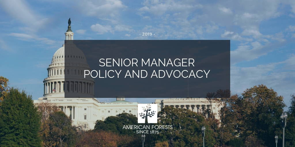 job posting policy manager washington dc conservation forests forestry science