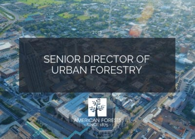 job posting senior director urban forestry manager washington dc conservation forests planning science 2