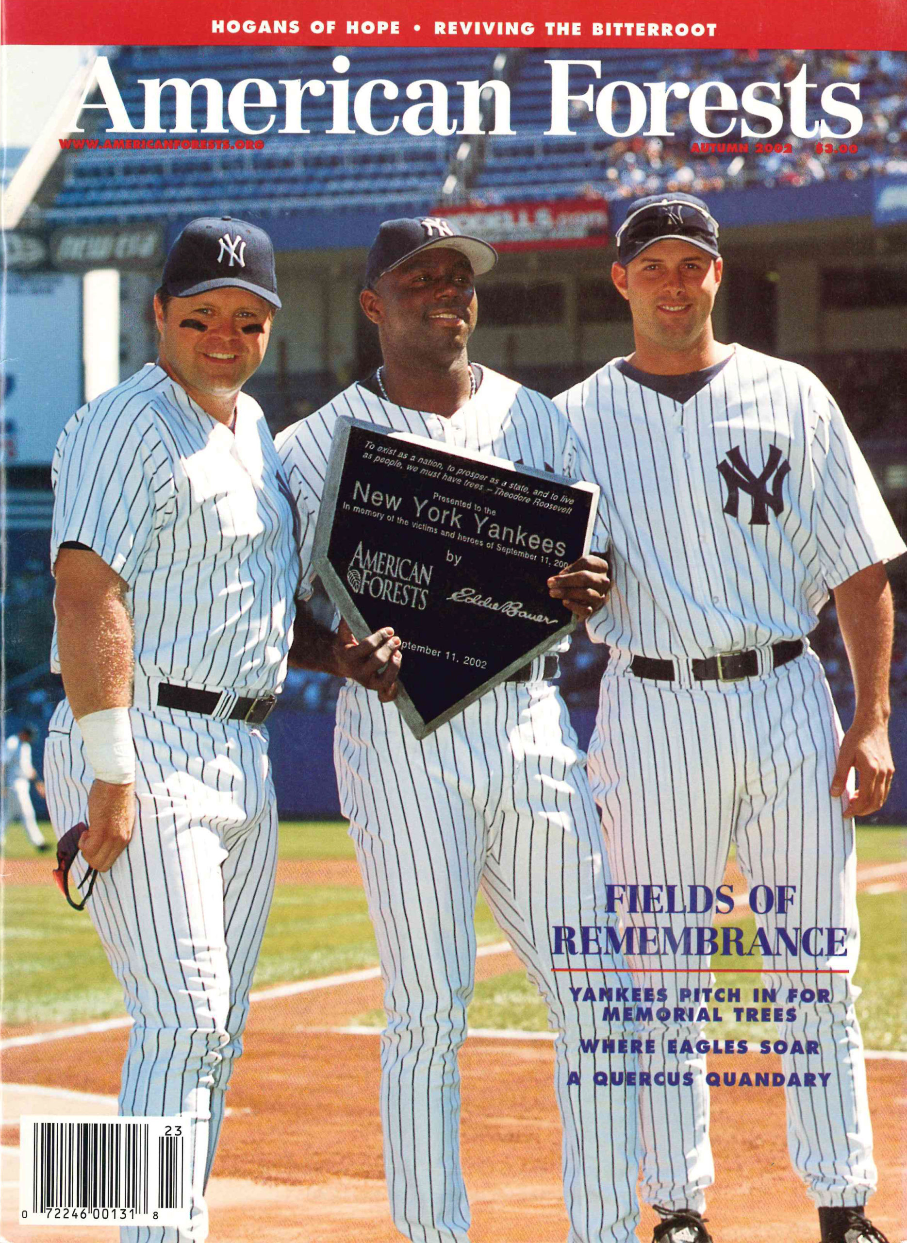In September 2002, American Forests and the New York Yankees planted the first of thousands of trees in Yankee Stadium's Monument Park to honor victims of the September 11th terrorist attacks.
