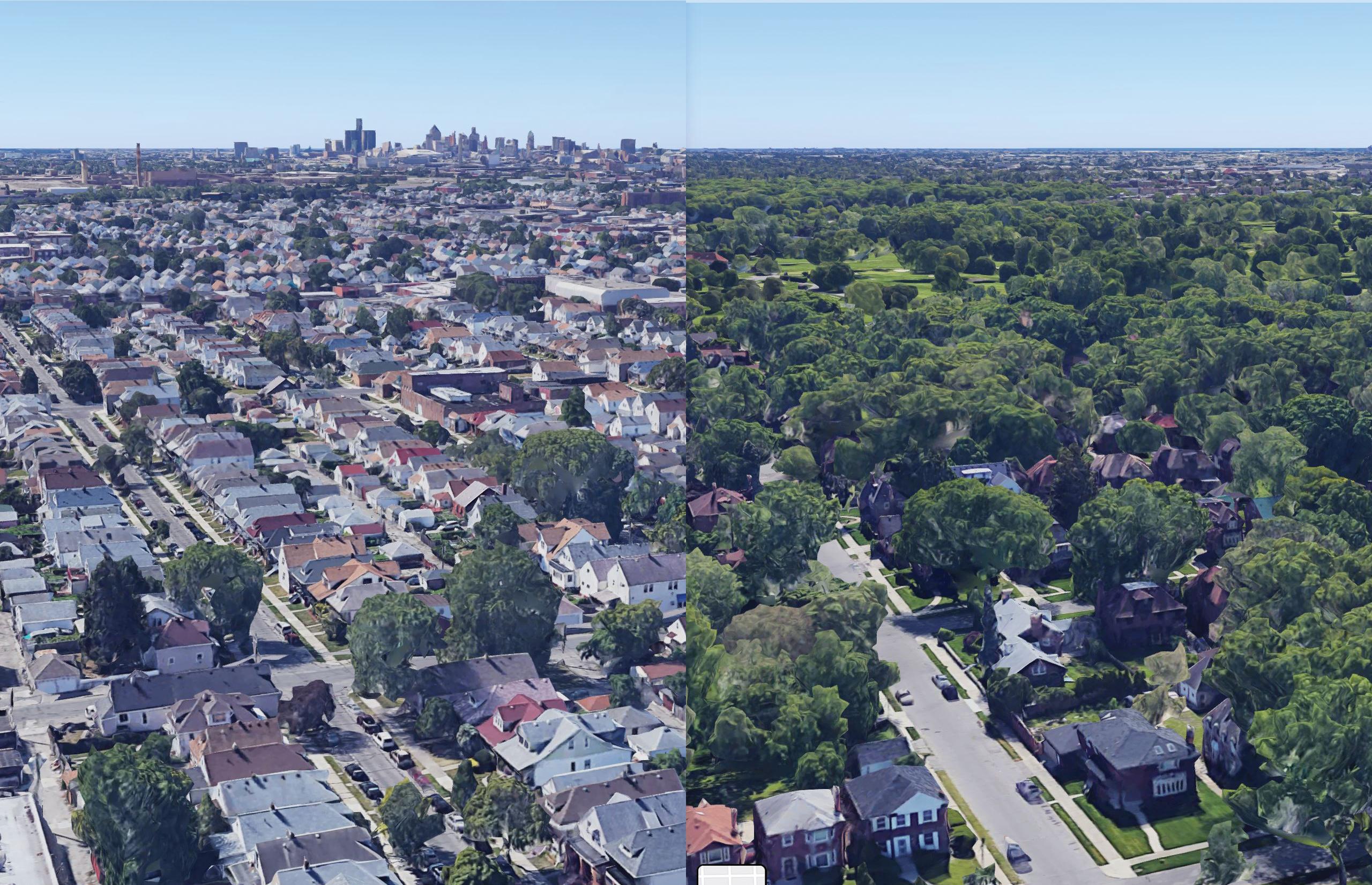 Detroit Aerial Maps