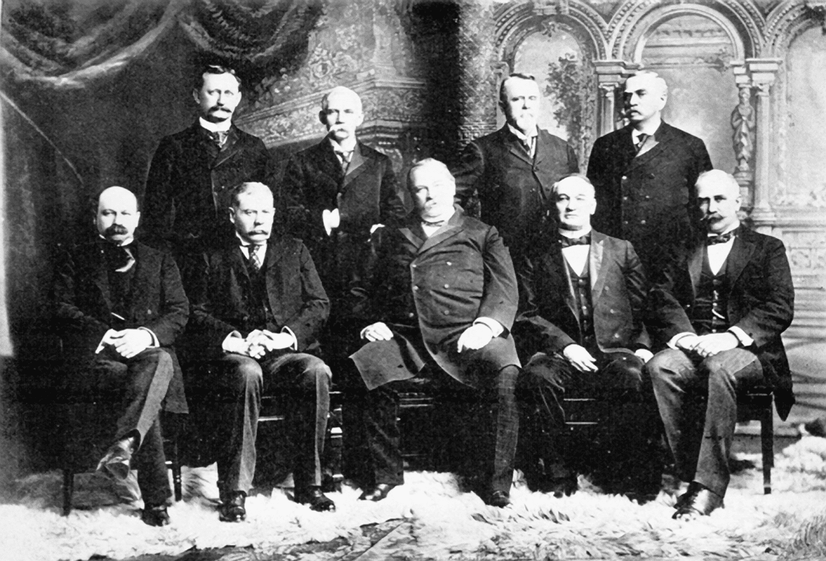 J Sterling Morton (upper right), a vice president of American Forests and the founder of Arbor Day, served as agriculture secretary under President Grover Cleveland.