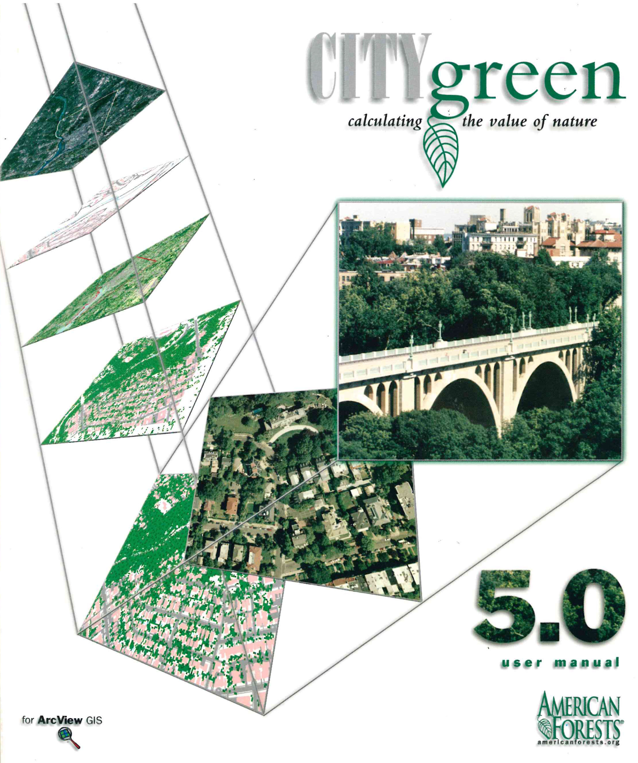 In 1996, American Forests released CITYgreen, a software planning tool for mapping urban ecosystems and calculating their value. This later was developed into the more known i-Tree GIS program used today.