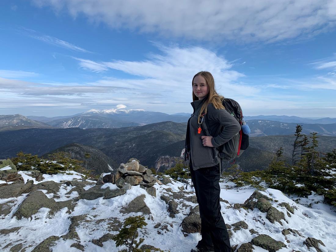 Herr summiting Mt. Carrigain via the Signal Ridge Trail in November 2019.