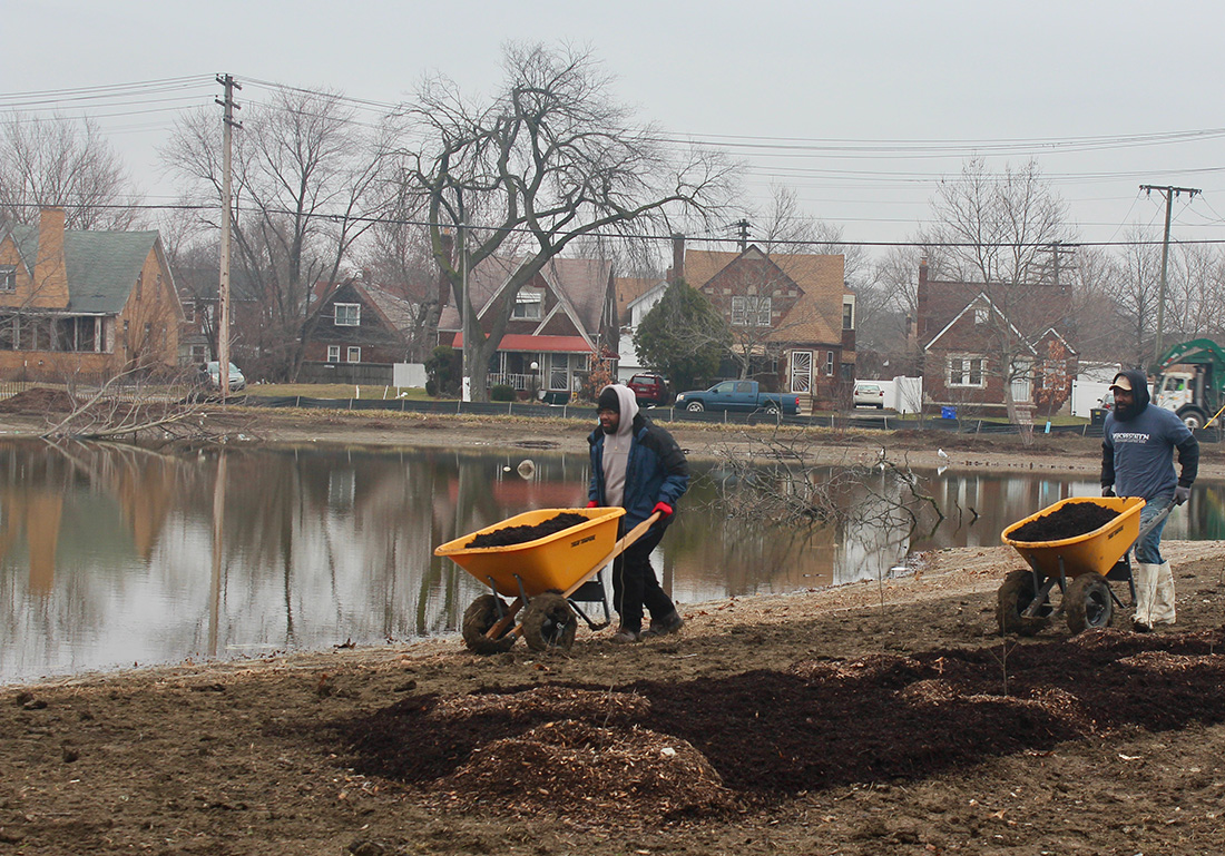 Rucker is hiring others from The Greening of Detroit, one of American Forests' partners, to work for his own landscaping business because he says the program ensures they are qualified and dependable.
